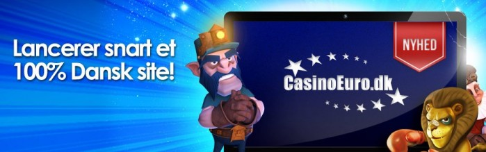 CasinoEuro 100 kr. gratis casinopenge!